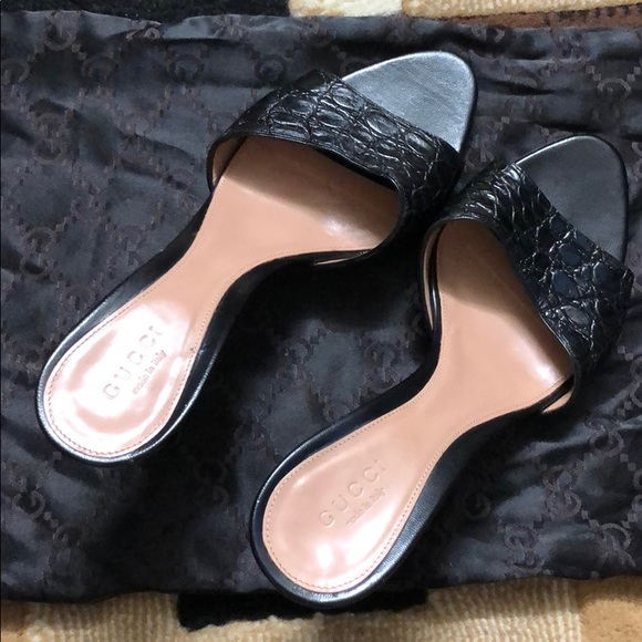 008edc17025d Gucci Shoes | Tom Ford Alligator Slide Bamboo Metal Heel | Poshmark